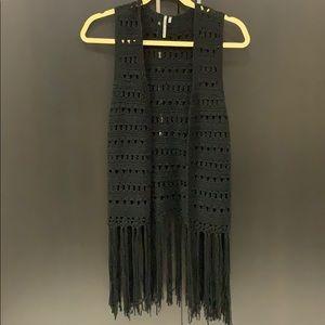 Sleeveless Awake Couture Fringe Vest